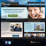 phoenix web design for prestige telecom done by powerhouse group